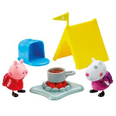Playset-e-Mini-Figuras---Peppa-Pig---Acampamento-da-Suzy---DTC