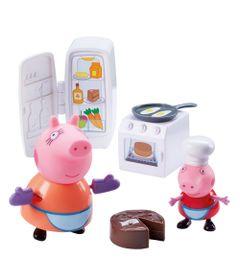 Playset-e-Mini-Figuras---Peppa-Pig---Peppa-Hora-de-Comer---DTC