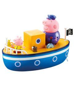 Veiculo-e-Mini-Figuras---Peppa-Pig---Barco-do-Vovo-Pig---DTC
