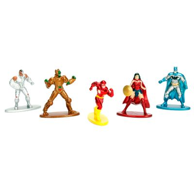 Conjunto-de-5-Mini-Figuras---5-Cm---Nano-Metal---DC-Comics---Herois-e-Viloes---Pack-A---DTC