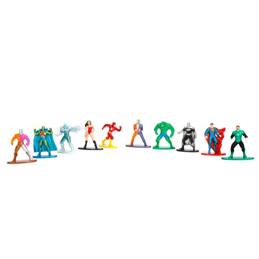 Conjunto-de-10-Mini-Figuras---5-Cm---Nano-Metal---DC-Comics---Herois-e-Viloes---DTC