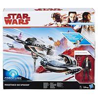 Veiculo-E-Figura---Disney---Star-Wars---Episodio-VIII---Ski-Speeder-Resistance---Hasbro