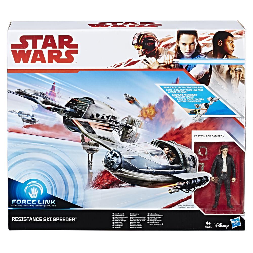 Veículo E Figura - Disney - Star Wars - Episódio VIII - Ski Speeder Resistance - Hasbro