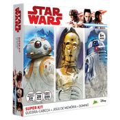 Kit-de-Atividades---Star-Wars---Episodio-VIII---Quebra-Cabeca-200-Pecas---Domino-28-Pecas---Jogo-da-Memoria-20-Pares---Jak