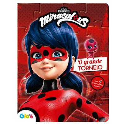 Livro-Infantil-e-Quebra-Cabeca---Miraculous---LadyBug---O-Grande-Torneio---Ciranda-Cultural-