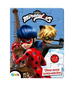 Livro-Infantil-e-Quebra-Cabeca---Miraculous---LadyBug---Uma-Super-Heroina--Ciranda-Cultural-