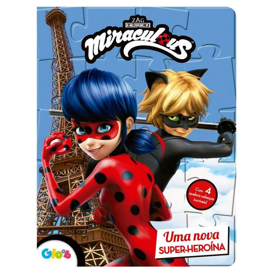 Livro infantil e quebra-cabeça Miraculous - Ciranda Cultural
