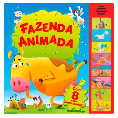 Livro-Infantil---Sons-Animados---Fazenda-Animado---Ciranda-Cultural