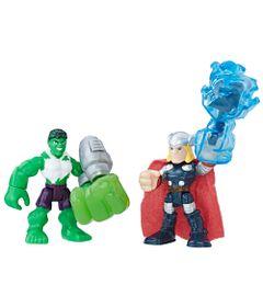 Mini-Figuras---Playskool-Heroes---Marvel-Super-Heroes-Adventure---Hulk-e-Thor---Hasbro
