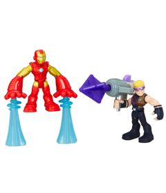 Mini-Figuras---Playskool-Heroes---Marvel-Super-Heroes-Adventure---Iron-Man-e-Gaviao-Arqueiro---Hasbro