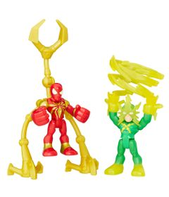 Mini-Figuras---Playskool-Heroes---Marvel-Super-Heroes-Adventure---Spider-Man-e-Elektro---Hasbro