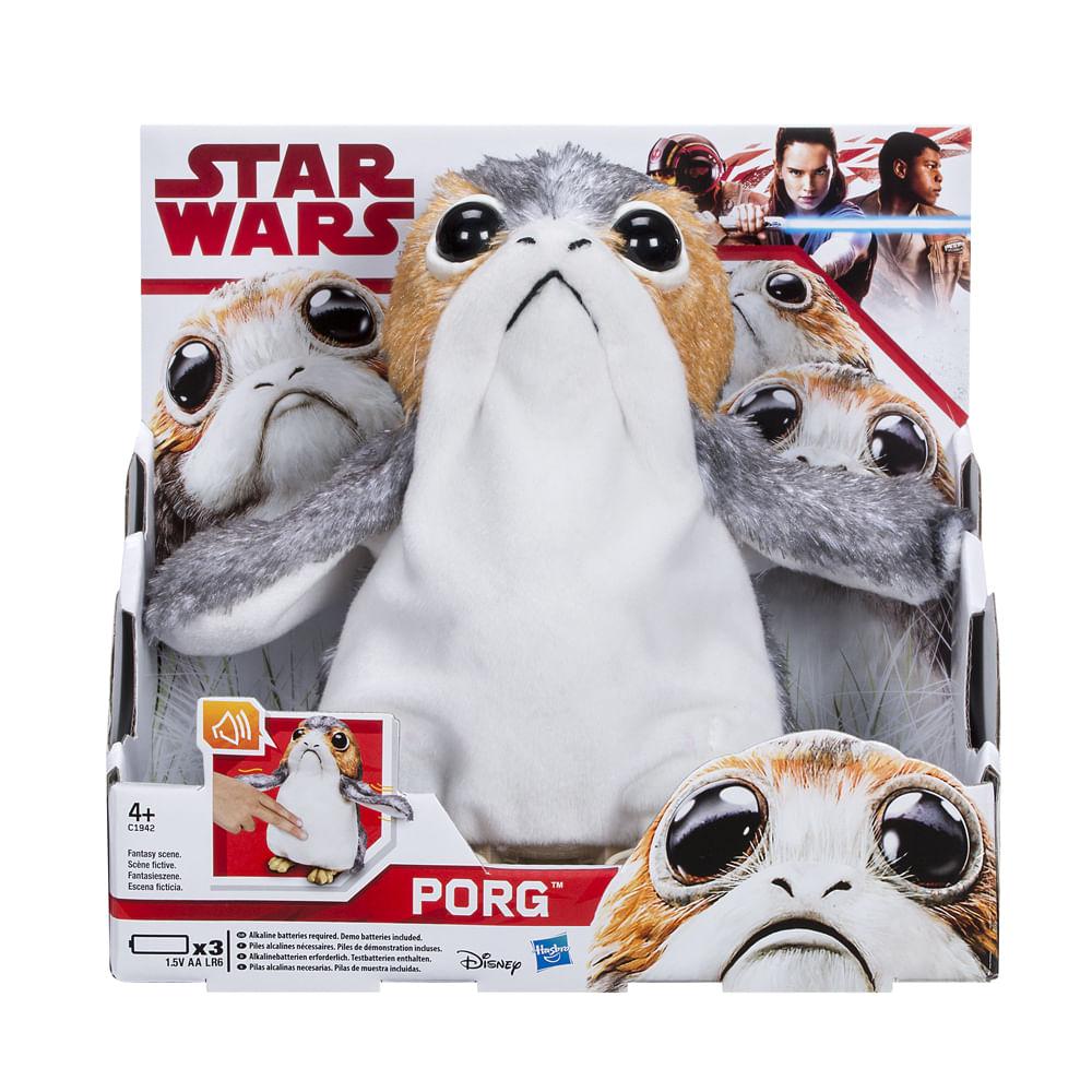 Pelúcia Interativa - Disney - Star Wars - Episódio VIII - Porg - Hasbro