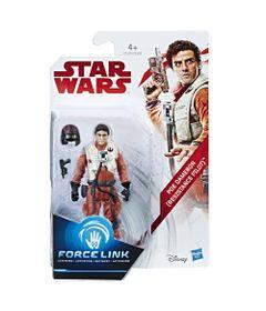 Figura-Articulada---18-Cm---Force-Link---Colecao-1---Disney---Star-Wars---Episodio-VIII---Poe-Dameron---Hasbro