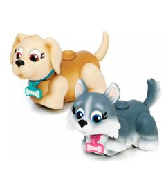 Mini-Figuras---Pet-Parade---Cachorrinhos-Creme-e-Cinza---Multikids