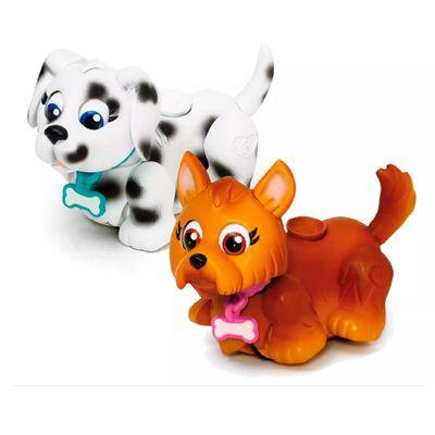 Mini-Figuras---Pet-Parade---Cachorrinhos-Pintado-e-Marrom---Multikids