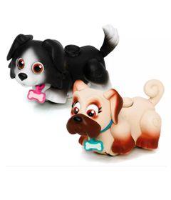 Mini-Figuras---Pet-Parade---Cachorrinhos-Preto-e-Bege---Multikids