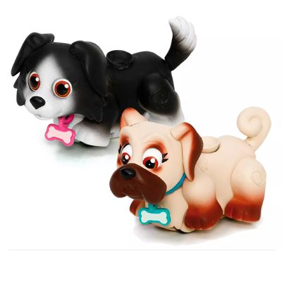 Mini-Figuras---Pet-Parade---Cachorrinhos-Preto-e-Bege---Multikids