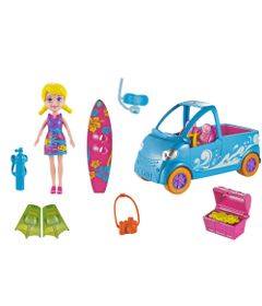 Boneca---Polly-Pocket-com-Veiculo---Van-de-Surf---Mattel