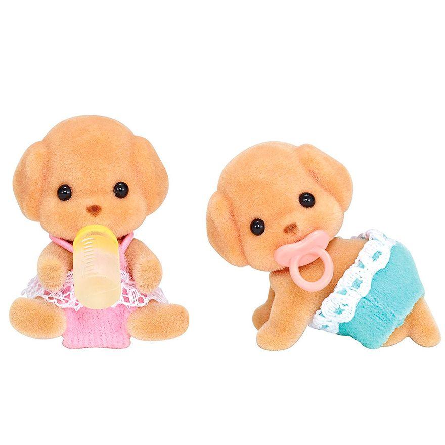 Sylvanian-Families---Familia-Poodle-Toy---Irmaos-Gemeos---Epoch