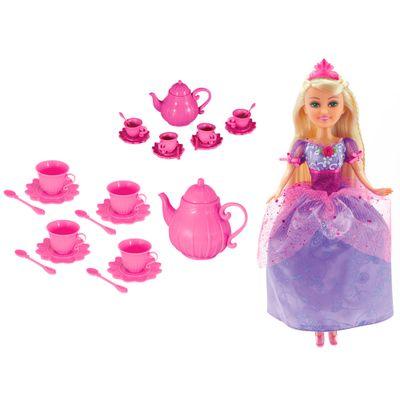Boneca-Articulada-e-Acessorios---Funville-Sparkle-Girlz---Conjunto-de-Cha-e-Fada-Princesa---DTC