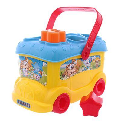 Baby-Bus-com-Blocos-de-Encaixe---Amarelo-e-Azul---Dican