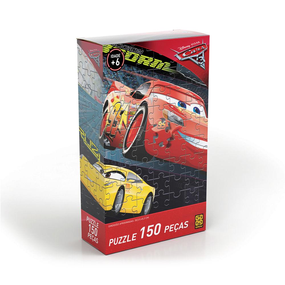 Quebra-Cabeça - Carros 3 - 150 peças - Disney - Grow