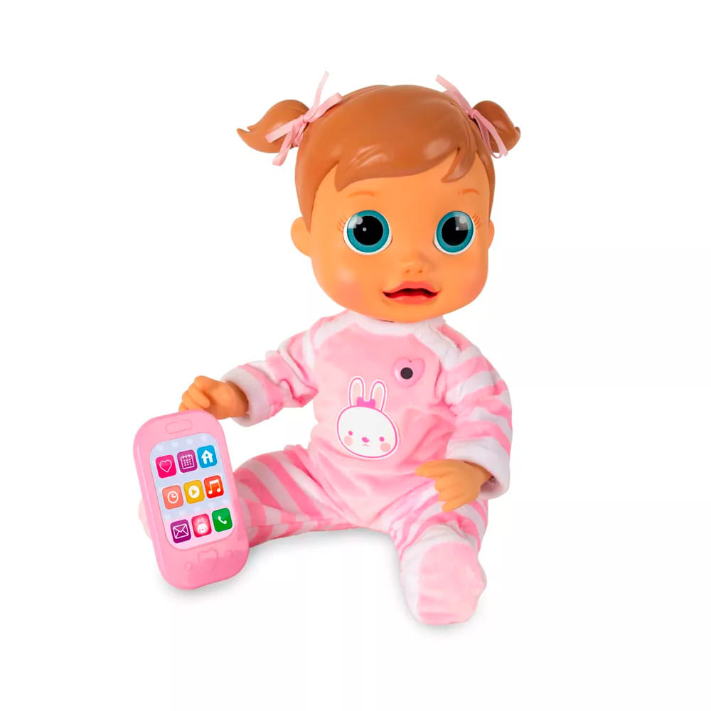 Boneca Bebê - Baby Wow - Analu Interativa - Multikids