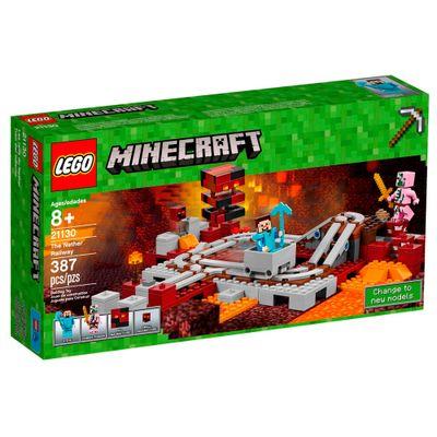 LEGO-Minecraft---Ferrovia-Nether---21130