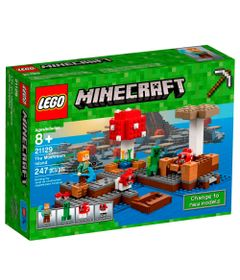LEGO-Minecraft---Ilha-do-Cogumelo---21129