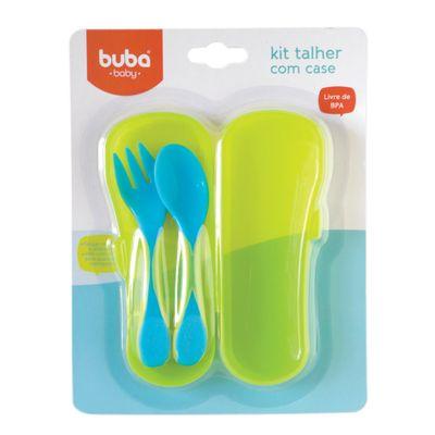 Kit-Colher-e-Garfo-com-Case---Azul---Buba