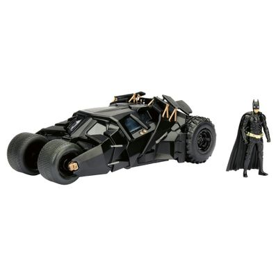 Figura-e-Veiculo-Die-Cast---Metals---DC-Comics---The-Dark-Knight-Batmovel-e-Batman---DTC