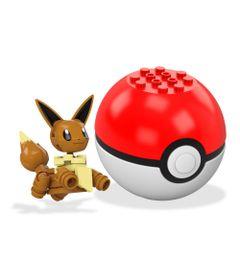 Bloco-de-Montar---Mega-Construx---Pokemon---Pokebola---Eevee---Mattel