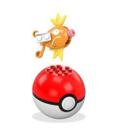 Bloco-de-Montar---Mega-Construx---Pokemon---Pokebola---Magikarp---Mattel