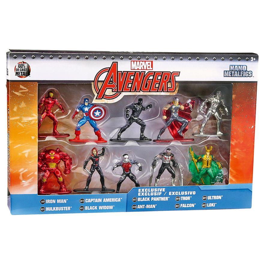 Conjunto-com-10-Figuras-Colecionaveis-de-4-Cm---Metals-Nano-Figures---Marvel-Super-Heroes---Disney---DTC