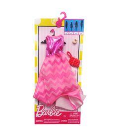 Roupinha-para-Boneca-Barbie---Vestido-Rosa-com-Listras---Mattel