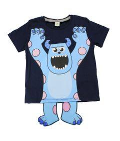Camiseta-Fantasia-Manga-Curta-em-Meia-Malha---Azul-Marinho---Sulley---Mosntros-S-A---Disney---1