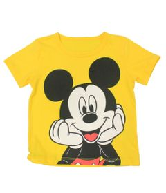 Camiseta-Fantasia-Manga-Curta-em-Meia-Malha---Amarela---Mickey---Disney---1