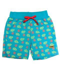 Bermuda-em-Moletom---Verde---Tigrao---Jardim-Tropical---Disney---P
