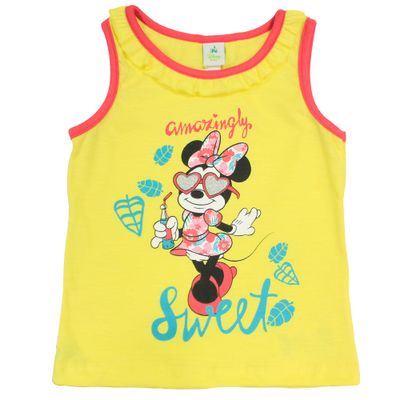 Camiseta-Regata-em-Malha-Flame---Amarela---Minnie---Jardim-Tropical---Disney---1