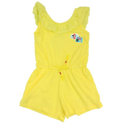 Macacao-Manga-Curta-em-Malha-Flame---Amarelo---Minnie---Jardim-Tropical---Disney---1