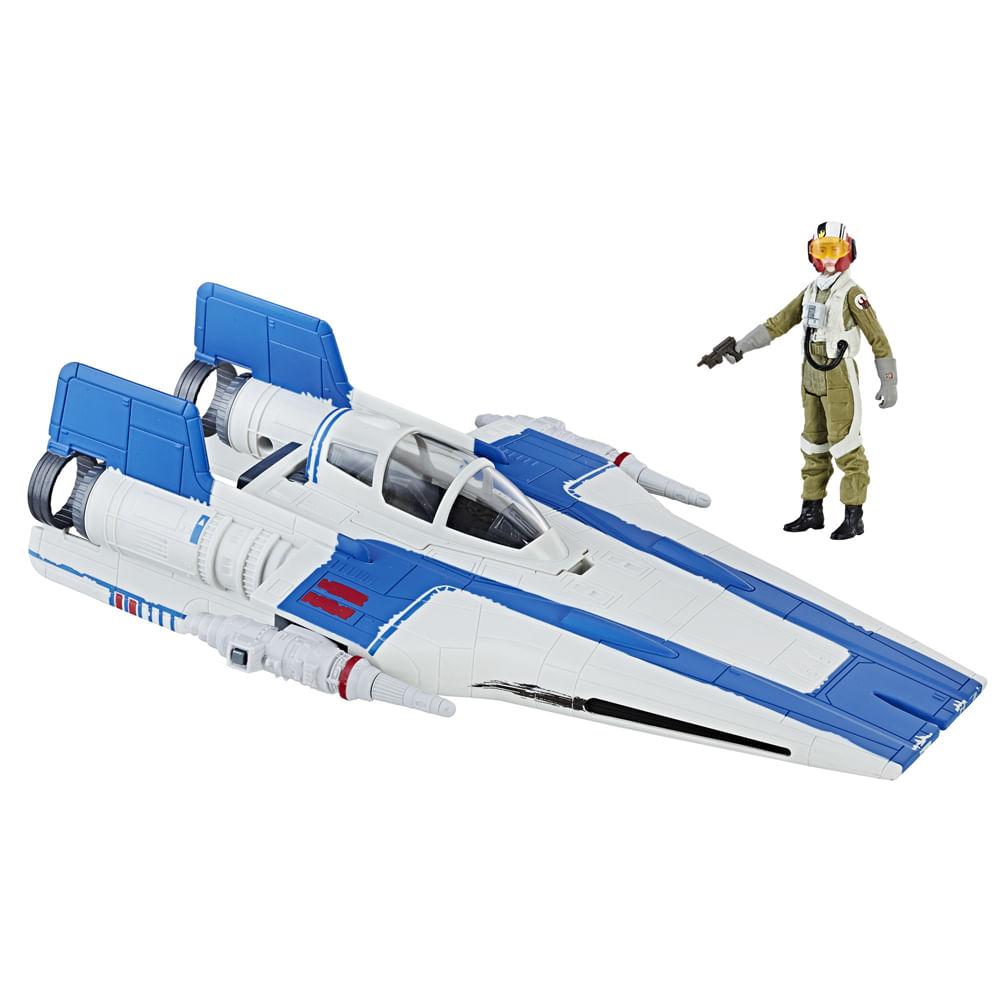 Figura e Veículo - Disney - Star Wars - Ep. VIII Force Link - X-Wing Piloto da Resistência - Hasbro