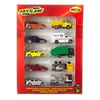 Conjunto-de-Veiculos-Die-Cast---Pack-10-Carrinhos-da-Cidade---New-Toys