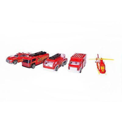 Conjunto-de-Veiculos-Die-Cast---pack-5-Veiculos-de-Resgate---New-Toys