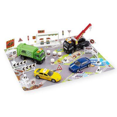 Conjunto-de-Veiculos---Fast-Lane---25-Pecas---Veiculos-da-Cidade---New-Toys