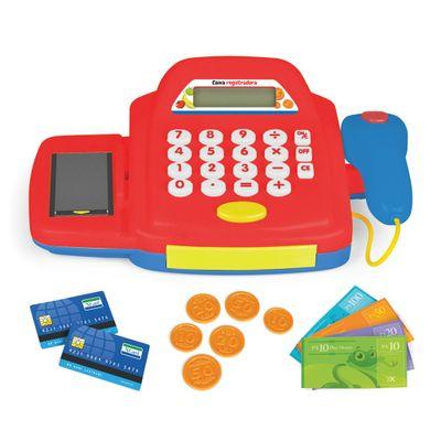 Caixa-Registradora---Comprinhas-Divertidas---Vermelha---Brinquedos-Chocolate