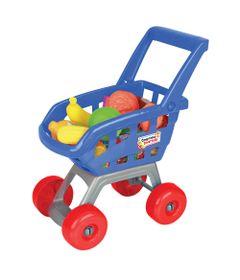 Carrinho-de-Compras---Comprinhas-Divertidas---Azul---Brinquedos-Chocolate