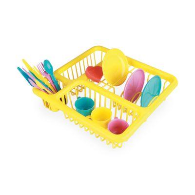 Acessorios-de-Casinha---Escorredor-de-Loucinhas---Amarelo---Brinquedos-Chocolate