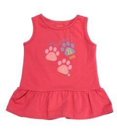 Blusa-Regata-e-Gola-Careca-com-Babado-em-Cotton---Rosa---Fisher-Price---1