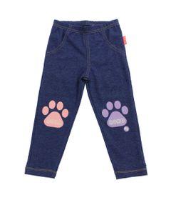 Calca-Legging-em-Cotton-com-Patinhas---Azul-Mescla---Fisher-Price---1