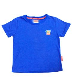 Camiseta-Manga-Curta-com-Gola-Careca-em-Malha-Flame---Azul---Fisher-Price---1